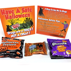 Drugs Are A Trick..Not A Treat! Drug Prevention & Halloween Safety Treat Pack Halloween Giveaway, Kids, Halloween, Giveaway, Anti-Drug, Red Ribbon, Treat, Safety, Hand Out,