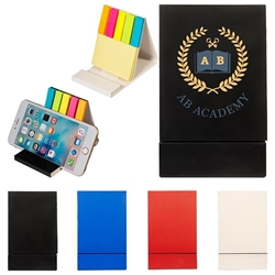 Duo Sticky Notepad & Phone Stand  Sticky note phone holder, stationery phone holder, employee appreciation gifts, business gifts, giveaways, corporate gifts with your logo