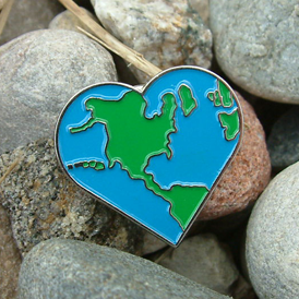 Earth Day Heart Lapel Pin | Care Promotions
