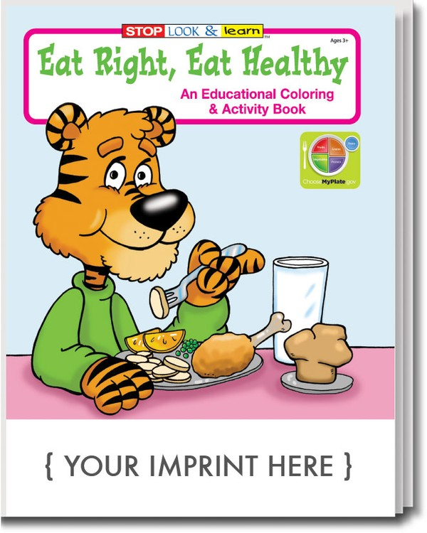 Eat Right Healthy Coloring Book