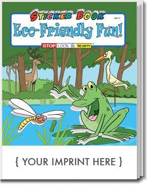 Eco-Friendly Fun! Sticker & Activity Book | Care Promotions
