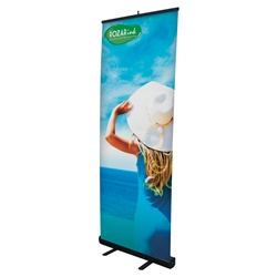 "Economy Retractable Banner Kit, 31.5"" custom printed retractable banner, tradeshow retractable banner kit, trade show banner kit, health fair retractable banner, promotional banner kit, trade show displays, health fair display, custom logo retractable banner"