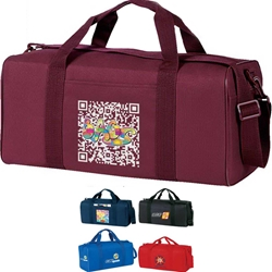 Economy Square Duffle Economy, Square, All-Purpose, Sport, Pack, Deluxe, Duffle, Promotional, Imprinted, Polyester, Travel, Custom, Personalized, Bag
