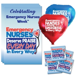 """Emergency Nurses Deserve Praise Every Day, In Every Way"" Decoration Care Package  Poster, Buttons, Pens, Cups, Celebration Pack, ER, Emergency Nurses, theme Celebration Pack"