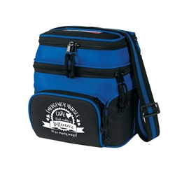 """Emergency Nurses: Care That Makes A Difference In So Many Ways!"" Deluxe Chill Insulated 6 Pack Cooler   Chill insulated 6 pack cooler,  Lunch Bag, Insulated Cooler, 8 pack cooler, 6 pack cooler, All Purpose, Elite, Zip, Polyester, Promotional Events, Trade Show Bags, Health Fair, Imprinted, Tote, Reusable, Recognition, Travel , imprinted"
