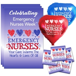 """Emergency Nurses: Your Care Warms the Hearts & Lives of All"" Celebration Party Pack   Emergency Nurses theme decoration pack,  Nurses theme Party Pack, Nurses Celebration Pack, Nurses Appreciation, Week, Nurses theme Celebration Pack"