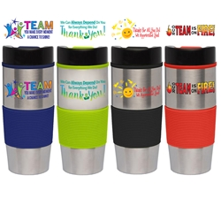 Employee Recognition & Appreciation Lanai 16 oz. Stainless Tumbler - Full Color Imprint  Employee Recognition Tumbler, Employee Appreciation Travel Tumbler, 16 oz, Tumbler, Stainless Steal, Tumbler, 4 Color Process, Imprinted, Personalized, Promotional, with name on it