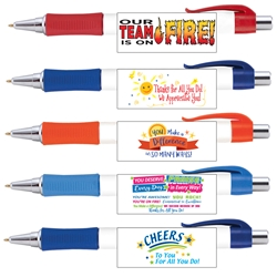 Employee Recognition & Appreciation Vision Grip Pens Assortment Pack ($24.95 for Pack of 25 pens)  Employee Recognition Pens, Employee Appreciation Pens, Theme, Full Color Pen, 4 color process pen, full color grip pen, Vision pen,  Imprinted, Personalized, Promotional, with name on it