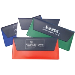 Envelope Shape Pouch in Two-Tone Vinyl  Envelope Pouch, Coupon Holder, Snap holder, document holder, Vinyl Holder,