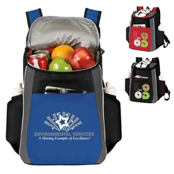 """Environmental Services: A Shining Example of Excellence"" Prime 18 Cans Cooler Backpack Environmental Services theme Backpack cooler, Can Cooler, 18 Can Backpack cooler, 18 pack cooler, Imprinted, With Logo, With Name On It"