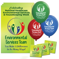 """Environmental Services Team: You Make A Difference In So Many Ways"" Decoration Pack  eVS, Environmental Services, Team, Poster, Buttons, Pens, Cups, Decoration, Celebration Pack, Nursing Assistants theme Celebration Pack"