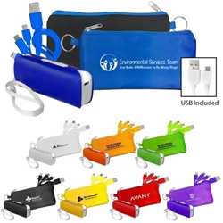 """Environmental Services Team: You Make A Difference In So Many Ways"" Power Bank & Cord Set  EVS, Theme, Housekeeping, Housekeepers, Imprinted, Power Bank, Charger, Cords,  Power Bank Gift Set, Bank,  Powerbank, Power Bank, Power Bank and Nylon Holder, Personalized, customized"