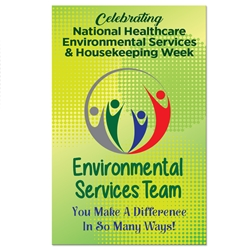 """Environmental Services Team: You Make A Difference In So Many Ways"" Theme 11 x 17"" Posters (Sold in Packs of 10)  Environmental Services, Team, EVS, Housekeeping Week, International Housekeepers Week, Environmental Services Week, Theme, Posters, Poster, Celebration Poster, Appreciation Day, Recognition Theme Poster,"