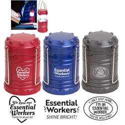 Essential Worker Appreciation Retro Pop Up Light  Essential Workers, Apprecaition, Theme, Healthcare,  Retro Light, Lantern, Light, Imprinted, Personalized, With Logo, Mini, Pop up,