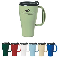 Evolve™ 16 Oz. Omega Mug Evolve™ 16 Oz. Omega Mug, Omega, 16 oz, Mug, Travel Mug, with, handle, Imprinted, Personalized, Promotional, with name on it, Gift Idea, Giveaway,