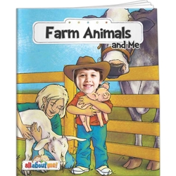 Farm Animals and Me All About Me Farm Animals and Me All About Me, story, children, picture, interactive, adventure, farming, agriculture, farmyard, barn, cows, pigs, chickens, Imprinted, Personalized, Promotional, with name on it, Giveaway,