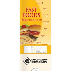 Fast Food Carbs, Calories, and Fat Pocket Slider (Spanish) Fast Food Info in Spanish, Fast Foods Pocket Slider in Spanish, fast food nutrition content in Spanish, Fast Food calories in Spanish, Fast Food fat in Spanish, and Fast Food Carbohydrates in Spanish, fast food restaurants info in Spanish for McDonalds, Burger King, Wendys, KFC, and more.