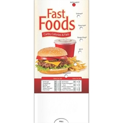Fast Food: Carbs, Calories, and Fat Pocket Slider BetterLifeLine, BetterLife, Education, Educational, information, Informational, Wellness, Guide, Brochure, Paper, Low-cost, Low-Price, Cheap, Instruction, Instructional, Booklet, Small, Reference, Interactive, Learn, Learning, Read, Reading, Health, Well-Being, Living, Awareness, PocketSlider, Slide, Chart, Dial, Bullet Point, Wheel, Pull-Down, SlideGuide, Food, Nutrition, Diet, Eating, Body, Snack, Meal, Eat, Sugar, Fat, Calories, Carbs, Carbohydrate, Weight, Obesity, The Positive Line, Positive Promotions, Fast Food