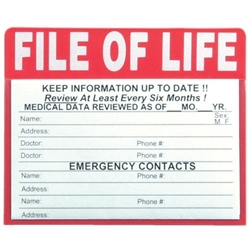File of Life Magnet | Public Safety Promotional Items | Care Promotions