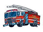 Fire Engine Temporary Tattoo fire safety promotional items, fire safety, kids fire safety, fire prevention, fire prevention week, fire engine, temporary tattoo, fire station giveaway