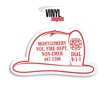 Fire Helmet Shaped Magnet fire helmet, junior firefighter, fire department, fire prevention, fire prevention week, fire prevention giveaways, fire safety promotional products, magnets, kitchen magnets