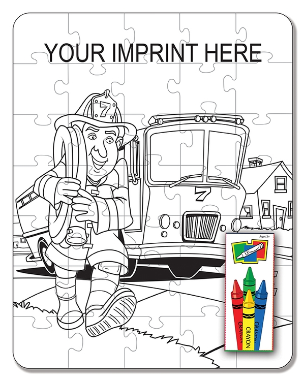 Fire Safety Coloring Puzzle Set