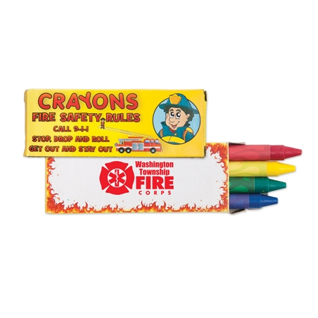 Fire Safety Crayons 4 Pack | Care Promotions