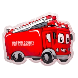 Fire Truck Hot/Cold Pack fire safety promotional items, fire department promotional item, fire prevention promotional items, fire prevention week giveaways, fire truck hot cold pack, promotional hot cold packs