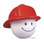 Fireman Smiley Face Stress Reliever fire safety promotional items, fire department giveaways, promotional stress relievers, fireman stress reliever, fire prevention week, fire safety education, promote fire safety, firefighter, smiley face