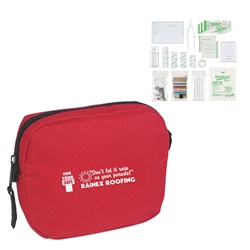 First Aid Kit First Aid Kit, First, Aid, Kit, Pouch, Zipper, Imprinted, Personalized, Promotional, with name on it, giveaway,