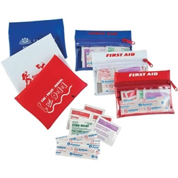 First Aid Travel Kit First Aid Travel Kit, First, Aid, Travel, Kit, Purse, Pouch, Imprinted, Personalized, Promotional, with name on it, giveaway