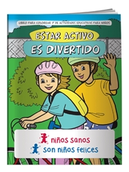 Fitness is Fun Coloring Book (Spanish) Fitness is Fun Coloring Book, in, Spanish, BetterLifeLine, BetterLife, Education, Educational, information, Informational, Wellness, Guide, Brochure, Paper, Low-cost, Low-Price, Cheap, Instruction, Instructional, Booklet, Small, Reference, Interactive, Learn, Learning, Read, Reading, Health, Well-Being, Living, Awareness, ColoringBook, ActivityBook, Activity, Crayon, Maze, Word, Search, Scramble, Entertain, Educate, Activities, Schools, Lessons, Kid, Child, Children, Story, Storyline, Stories, Exercise, Fitness, Nutrition, Sports, Workout, Gym, YMCA, YWCA, Gyms, Elementary,Imprinted, Personalized, Promotional, with name on it, Giveaway,