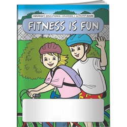 Fitness is Fun Coloring Book Fitness is Fun Coloring Book, BetterLifeLine, BetterLife, Education, Educational, information, Informational, Wellness, Guide, Brochure, Paper, Low-cost, Low-Price, Cheap, Instruction, Instructional, Booklet, Small, Reference, Interactive, Learn, Learning, Read, Reading, Health, Well-Being, Living, Awareness, ColoringBook, ActivityBook, Activity, Crayon, Maze, Word, Search, Scramble, Entertain, Educate, Activities, Schools, Lessons, Kid, Child, Children, Story, Storyline, Stories, Exercise, Fitness, Nutrition, Sports, Workout, Gym, YMCA, YWCA, Gyms, Elementary,Imprinted, Personalized, Promotional, with name on it, Giveaway,