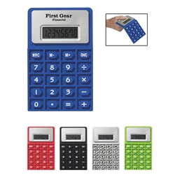 Flexi Calc Flexi Calc. Flex, Calc, Flexible, Calculator, Imprinted, Personalized, Promotional, with name on it, giveaway,