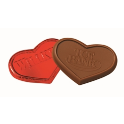 Foil Wrapped Chocolate Heart Heart Chocolates, Appreciation Gifts, Custom Business Gifts, Thank You Gifts, Employee Appreciation, Employee Recognition, Rewards and Incentives, Recognition Program, Valentines Day Gifts, American Heart Month giveaways, Trade Show Giveaways