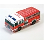 Foldable Die Cut Paper Fire Truck fire truck, junior firefighter, fire department, fire prevention, fire prevention week, fire prevention giveaways, fire safety promotional products, paper fire truck, fire truck puzzle