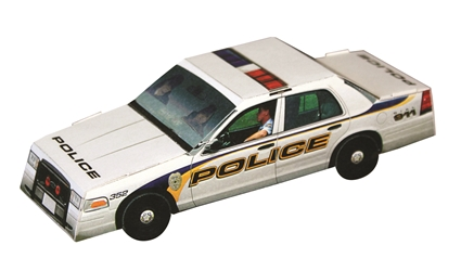 Paper Police Car | Care Promotions