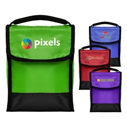 Foldable Snack & Lunch Bag - Full Color Imprint Snack Cooler, Lunch Bag, Foldable Lunch Bag, Snack Size Lunch Bag, 4 Color Process, Imprinted, Personalized, Promotional, with name on it