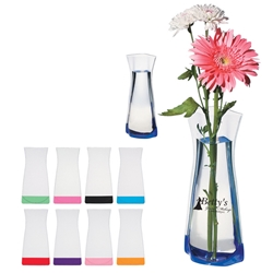 Foldable Vase Foldable Vase. Foldable, Clear, Vase, Imprinted, Personalized, Promotional, with name on it, giveaway,