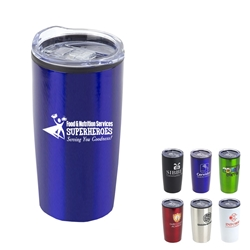 """Food & Nutrition Services: Superheroes Serving You Goodness"" 20 oz. Stainless Steel & Polypropylene Tumbler  Food Service, Nutrition, Services, Dietary, and, theme, 20 oz tumbler, Imprinted Tumblers, Stainless Steel Tumblers, Care Promotions,"