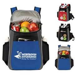 """Food & Nutrition Services: Superheroes Serving You Goodness"" Prime 18 Cans Cooler Backpack  Food, Service, Nutrition, Services, Dietary, Appreciation Recognition, Backpack cooler, Can Cooler, 18 Can Backpack cooler, 18 pack cooler, Imprinted, With Logo, With Name On It"