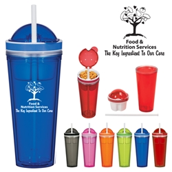 Food & Nutrition Services: The Key Ingredient To Our Care Snack Attack Tumbler  Food Services Theme, Nutriton Services theme,  design, 16 Oz snack tumbler, snack container tumbler, Travel food tumbler, Imprinted, Personalized, Promotional, with name on it