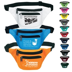 Food & Nutrition Services Theme Three Zippered Fanny Pack  Food Services, Nutrition Services, Gifts,  Appreciation, Food & Nutrition Services Appreciation, Recognition, Dietary Services, Foot Service theme promotional fanny pack, promotional waist pack, custom printed fanny pack, customized travel bag, custom logo fanny pack, promotional products