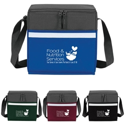 """Food & Nutrition Services: Your Service & Care Warms The Hearts & Lives Of All"" Two-Tone Accent 12-Pack Cooler  Food, service, week, Nutrition, Dietary, Services, Healthcare, appreciation, week, recognition, gifts, bags, two tone, cooler, accent, lunch bag, 12 pack cooler, Promotional, Imprinted, Polyester, Travel, Custom, Personalized, Bag"