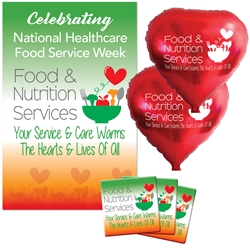 """Food & Nutrition Services: Your Service & Care Warms The Hearts & Lives Of All"" Celebration Party Pack  Food Service, Nutrition Service, Dietary Services, theme decoration pack,  Food Service theme Party Pack, Food Service, Celebration Pack, Food Service, Appreciation, Week, Food Service  theme Celebration Pack"