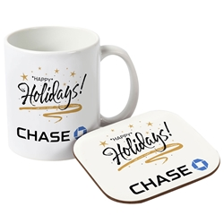 Full Color Ceramic Mug & Neoprene Coaster Gift Set | Care Promotions