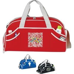 Fusion Sport Duffle Fusion, Sport, Pack, Deluxe, Duffle, Promotional, Imprinted, Polyester, Travel, Custom, Personalized, Bag