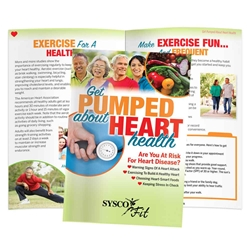 Get Pumped About Heart Health Handbook Heart Health Handbook, womens heart health month, womens heart awareness, american heart month giveaways, healthy heart promotions, heart health promotional items, health fair giveaways, employee wellness giveaways, educational promotional products