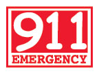 Glow-in-the-Dark Call 911 Emergency Temporary Tattoo fire safety promotional items, fire safety, kids fire safety, fire prevention, fire prevention week, fire engine, temporary tattoo, fire station giveaway