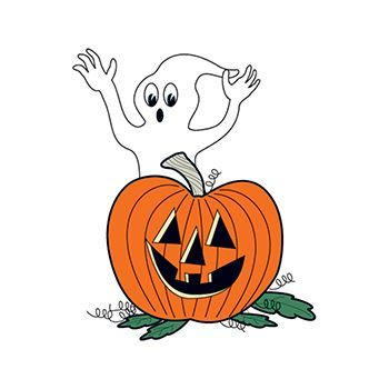 Glow in the Dark Ghost & Pumpkin Halloween Temporary Tattoo Halloween promotional items, kids safety, Halloween safety promotional items, Halloween giveaways, crime prevention month giveaways, community safety, trick or treat